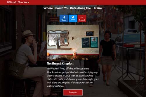 L Train Dating Quiz